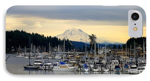 View Of Mt. Rainier From Gig Harbor Wa IPhone Case by Tanya  Searcy