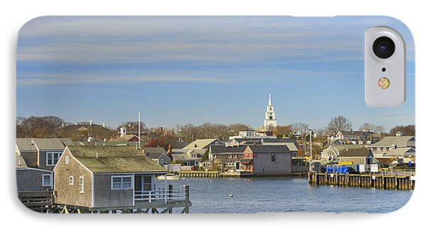 View Of Nantucket From The Harbor IPhone Case by Marianne Campolongo