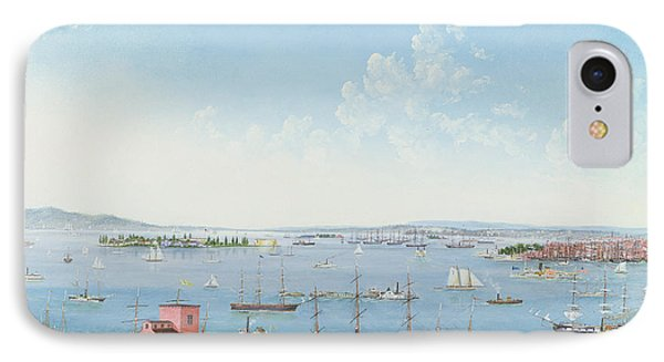 View Of New York Harbor From Brooklyn Heights IPhone Case