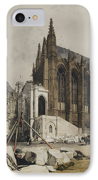 View Of Notre Dame IPhone Case by British Library