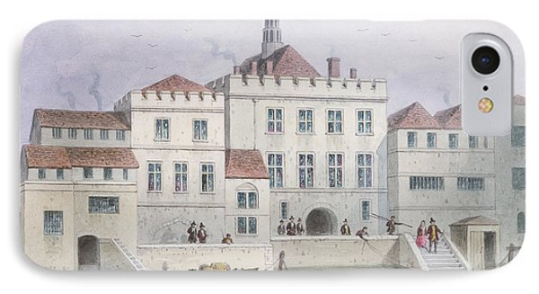 View Of Old Fishmongers Hall, 1650 Wc On Paper IPhone Case