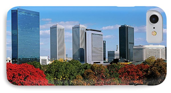 View Of Osaka Business Park In Autumn IPhone Case by Panoramic Images