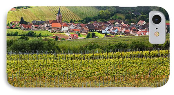 View Of Rodern From The Vineyards Of Alsace Phone Case by Greg Matchick