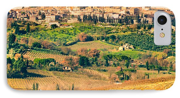 View Of San Gimignano - Tuscany IPhone Case by Luciano Mortula