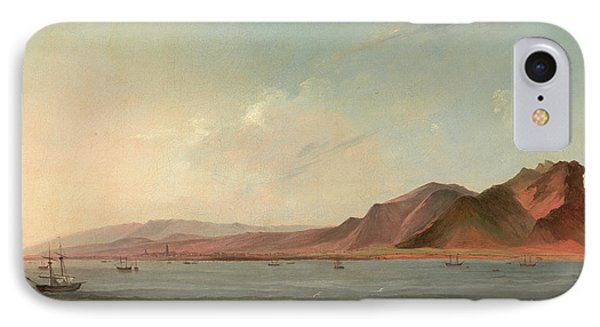 View Of Santa Cruz, Tenerife Signed And Dated IPhone Case by Litz Collection
