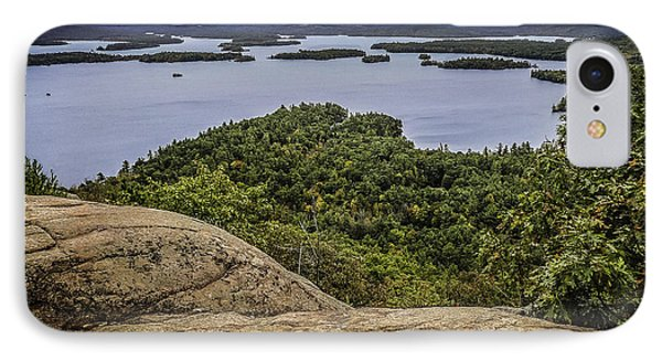 View Of Squam Lake From Rattlesnake Mountain Phone Case by Karen Stephenson