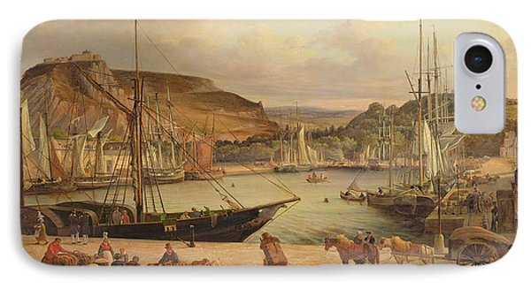 View Of The Commercial Port At Cherbourg IPhone Case
