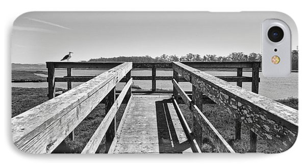 View Of The Elkhorn Slough From A Platform.  IPhone Case by Jamie Pham