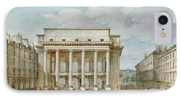 View Of The Facade Of The Theatre Italien Salle Favart  IPhone Case