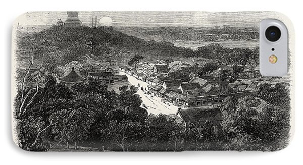 View Of The Gardens And The Buddhist Temple In The Imperial IPhone Case by Chinese School