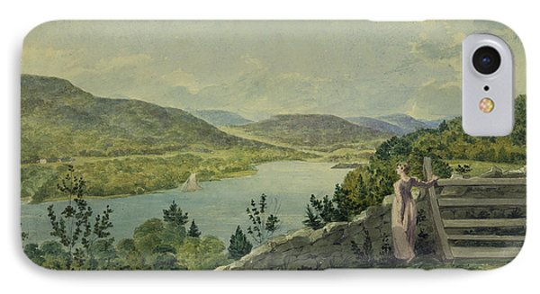 View Of The Hudson Circa 1817 Phone Case by Aged Pixel