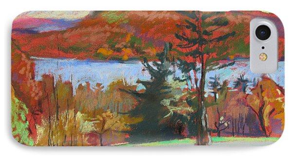 IPhone Case featuring the painting View Of The Lake by Linda Novick