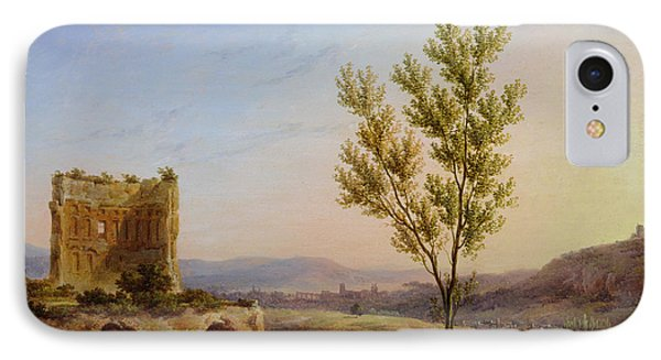View Of The Outskirts Of Rome Oil On Canvas IPhone Case