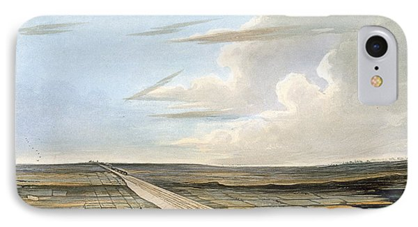 View Of The Railway Across Chat Moss IPhone Case