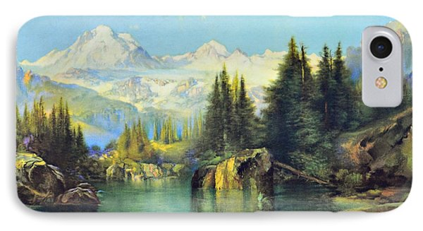 View Of The Rocky Mountains Phone Case by Susan Leggett