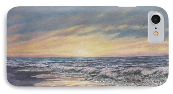 IPhone Case featuring the painting View Of The Sea by Kathleen McDermott