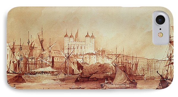 View Of The Tower Of London IPhone 7 Case by William Parrott