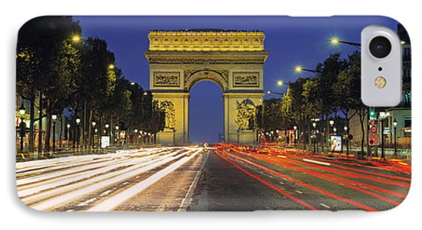 View Of Traffic On An Urban Street IPhone Case
