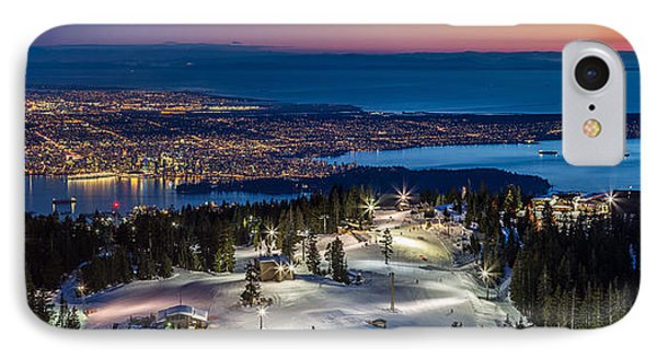 View Of Vancouver City From Grouse Mountain IPhone Case by Pierre Leclerc Photography