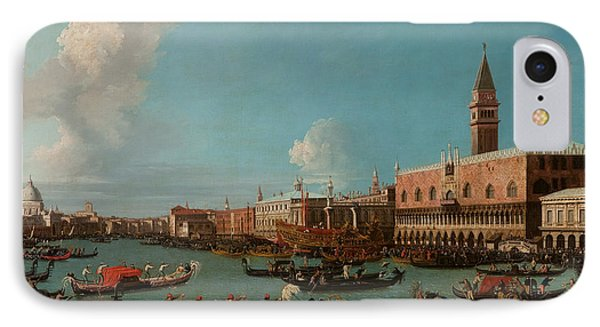 View Of Venice With The Doge Palace And The Salute Phone Case by Canaletto