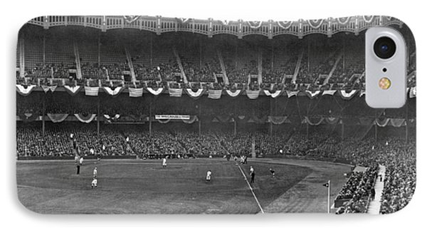 Yankee Stadium iPhone 7 Case - View Of Yankee Stadium by Underwood Archives