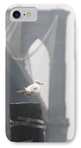 IPhone Case featuring the photograph View On Brooklyn Bridge by Vadim Levin