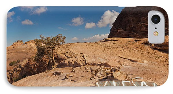 View Point Sign, Ad Deir Monastery IPhone Case