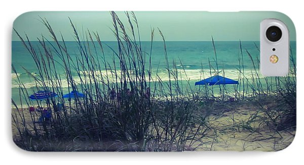 View Thru The Beach Grass IPhone Case by Cathy Lindsey