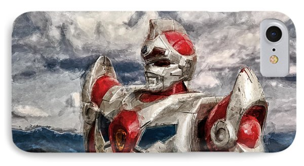 View Wth A Robot IPhone Case by Jeff  Gettis