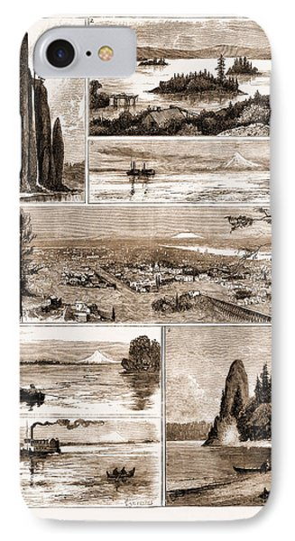 Views On The Northern Pacific Railway, U.s.a., U.s., Us IPhone Case by Litz Collection