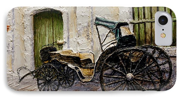 IPhone Case featuring the painting Vigan Carriage 2 by Joey Agbayani