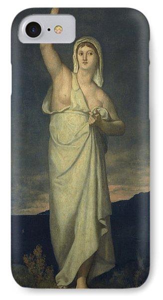Vigilance, 1867 Oil On Canvas IPhone Case by Pierre Puvis de Chavannes