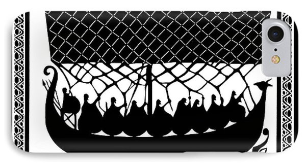 IPhone Case featuring the digital art Viking Ancient Mariners by Vagabond Folk Art - Virginia Vivier
