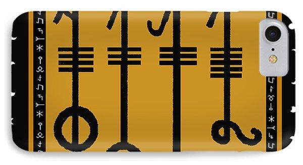 IPhone Case featuring the digital art Viking Sleepthorn Spell by Vagabond Folk Art - Virginia Vivier