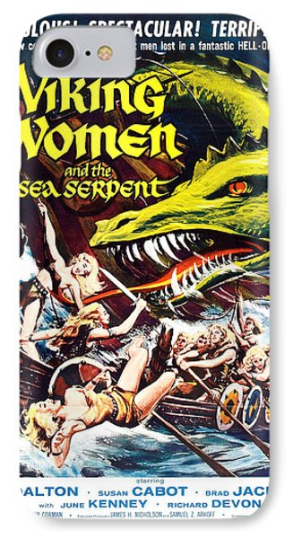 Viking Women And The Sea Serpent Poster IPhone Case by Gianfranco Weiss
