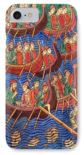 Vikings Invade England 9th Century Phone Case by Photo Researchers