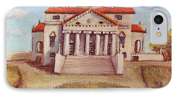IPhone Case featuring the painting Villa Capra La Rotunda by Rita Brown