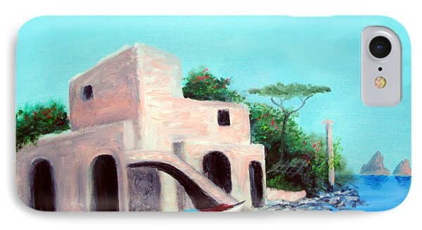 IPhone Case featuring the painting Villa Capri by Larry Cirigliano