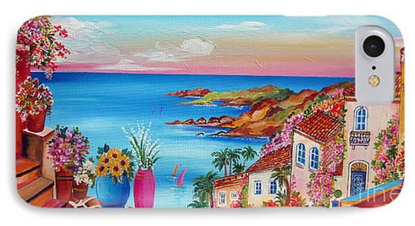 Village Along The Amalfi Coast IPhone Case