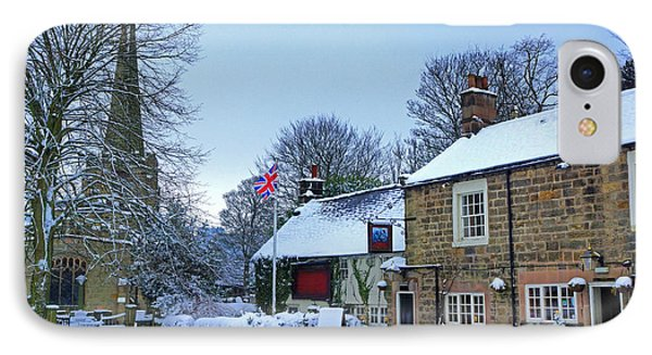 Village Church And Pub Phone Case by David Birchall
