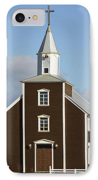 Village Church Of Eyrarbakki Phone Case by Michael Thornton