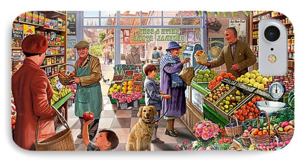 Village Greengrocer  IPhone Case by Steve Crisp