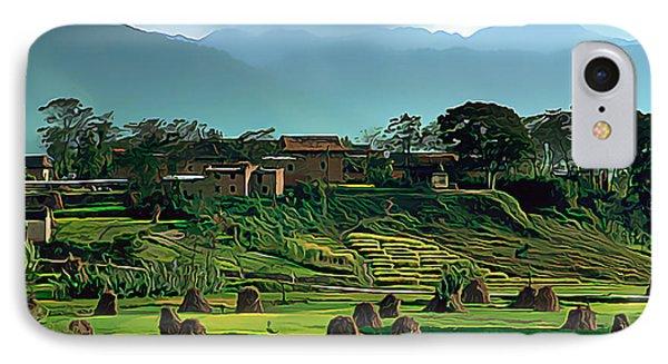 Village In Nepal IPhone Case by Wernher Krutein