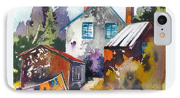 IPhone Case featuring the painting Village Life 1 by Rae Andrews