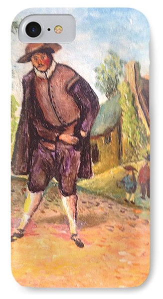 IPhone Case featuring the painting Village Man  by Egidio Graziani