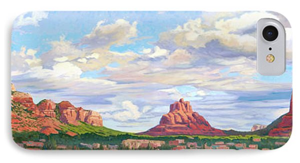 Village Of Oak Creek - Sedona IPhone Case by Steve Simon