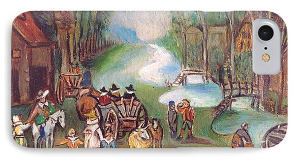 Village Scene Phone Case by Egidio Graziani