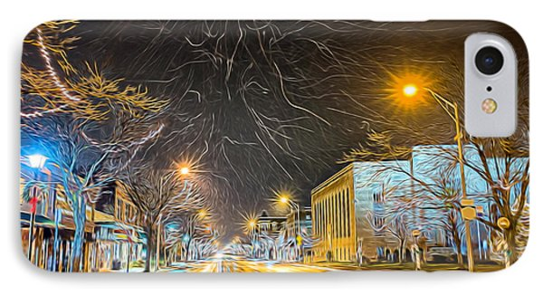 Village Winter Dream IPhone Case by Chris Bordeleau