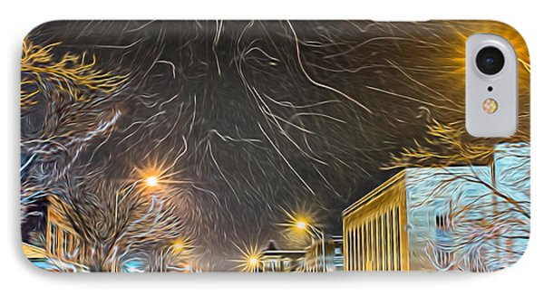 Village Winter Dream - Square IPhone Case by Chris Bordeleau