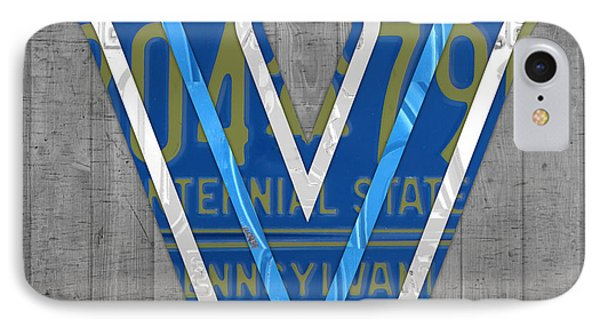 Villanova Wildcats College Sports Team Retro Vintage Recycled Pennsylvania License Plate Art IPhone Case by Design Turnpike